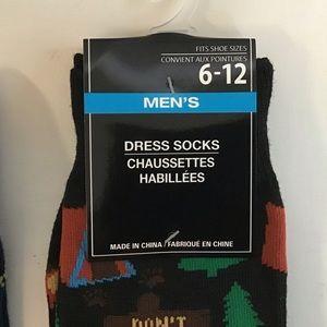 Underwear & Socks - Men's Dress Socks Sz 6-12 4 prs. Hot Dog Lonely Wo